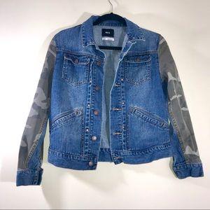 [U.O.] BDG Camo Pieced Denim Jacket - #1168